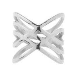 My Jewellery My Juwellery Crossed ring zilver