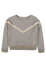 Rumbl! Rumbl! 04649 sweatshirt gold ruffle