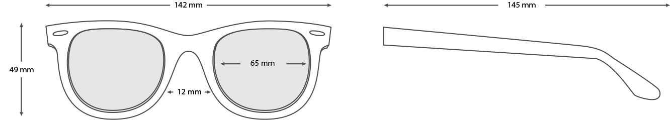 stone sunglasses measurements