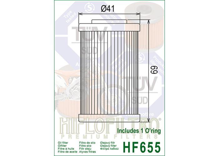 Hiflo HF655 Oliefilter
