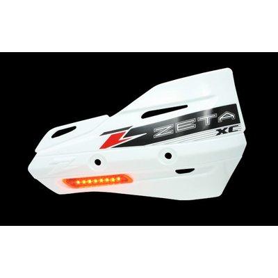 Zeta Armor-Guard XC Handschutz mit Blinker - Weiss