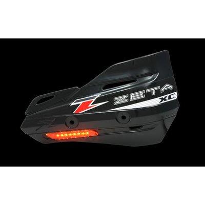 Zeta Armor-Guard XC Handschutz mit Blinker - Schwarz