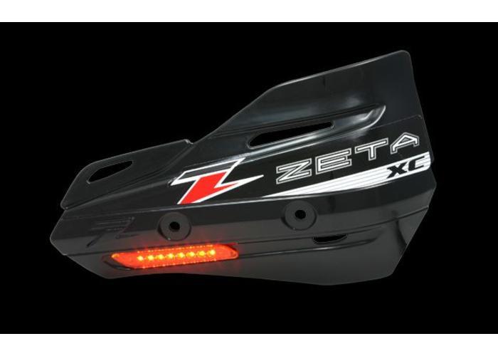 Zeta Armor-Guard XC Handbescherming met knipperlicht - Zwart