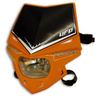 UFO Stealth Frontscheinwerfer mit LED und E-zertifiziert Orange