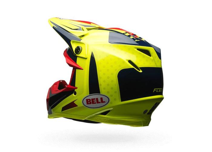 Bell Moto-9 Flex Carbon Vice Blue/Yellow