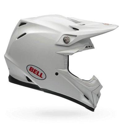 Bell Moto-9 Carbon Crosshelm Flex Solid White