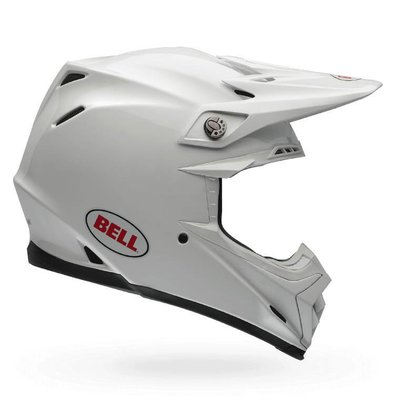 Bell Moto-9 Flex Carbon Crosshelm Solid White