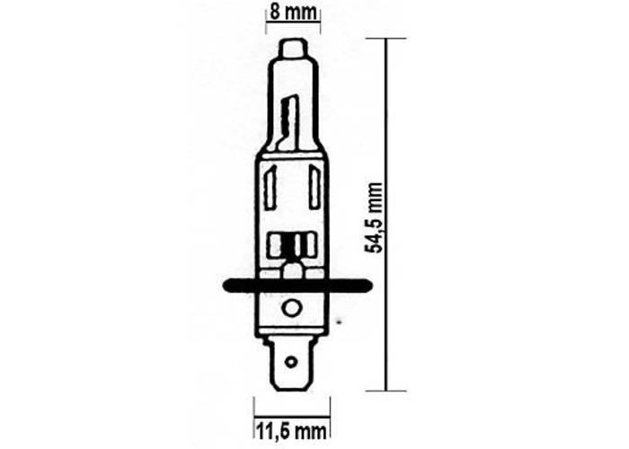 H1 Gloeilamp 12V 55W P14,5s