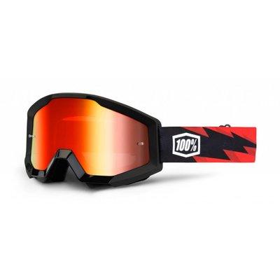 100% Crossbrille The Strata Slash / Rot Verspiegelt