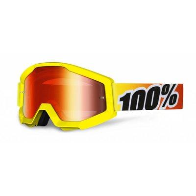 100% Crossbrille The Strata Sunny Days / Rot verspiegelt
