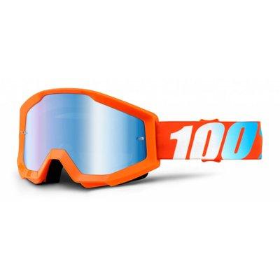 100% Crossbrille The Strata Orange - Blau Verspiegelt