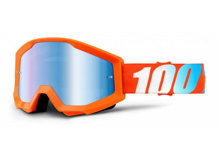 100% Goggle Strata Solid Orange Anti-Fog