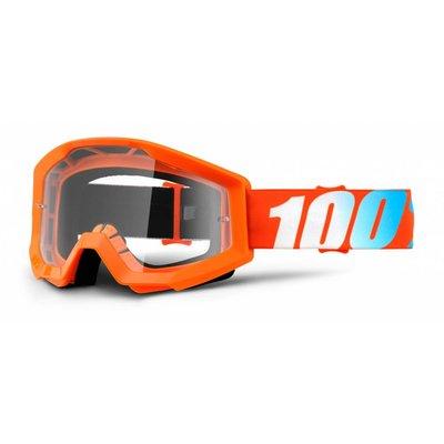 100% Crossbrille The Strata Orange - Klar