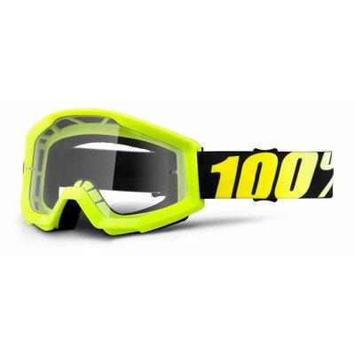 100% Crossbrille The Strata Neon Yellow - Klar