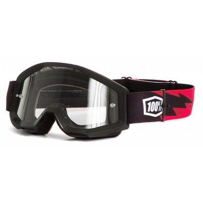 100% Goggle Strata Slash Anti-Fog Clear Lens