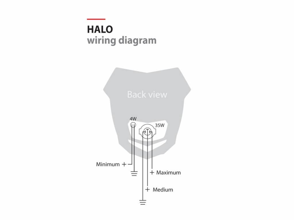 polisport halo headlight unit black red onlymx for cross Headlight Switch Wiring Diagram polisport halo headlight unit black red