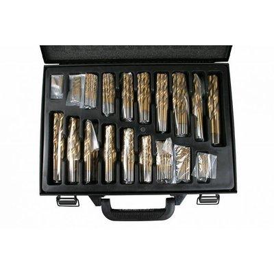 Boorset 101 Dlg HSS Titanium Coated / Koffer