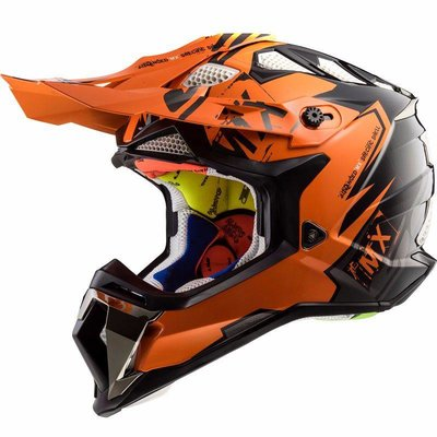 LS2 MX470 Subverter Emperor - Gloss Black Orange