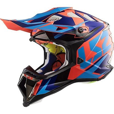 LS2 MX470 Subverter Nimble - Gloss Black Blue Orange