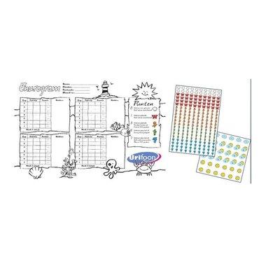 Urifoon 2 Scorekarten mit Stickerbögen