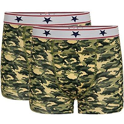UnderWunder Jongens Boxer, camouflage (setprijs)