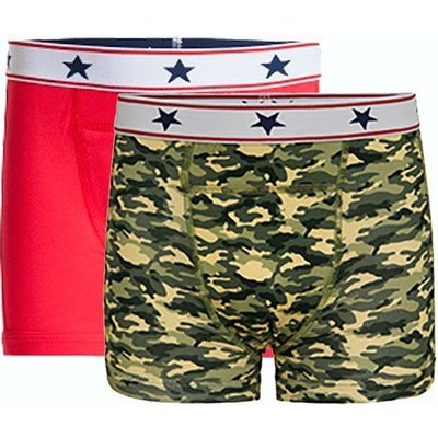 UnderWunder Boys boxer red/camouflage (price per 2)