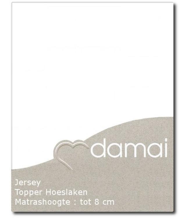 Damai Topper Hoeslaken Double Jersey White
