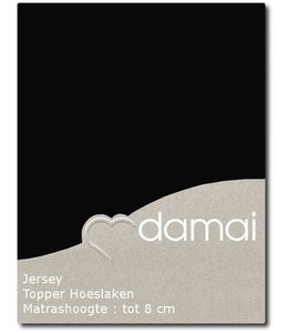 Damai Topper Hoeslaken Double Jersey Black