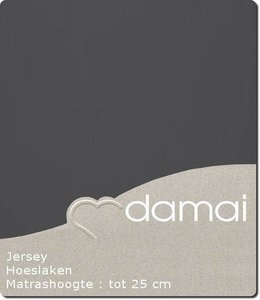 Damai Hoeslaken Double Jersey Antraciet
