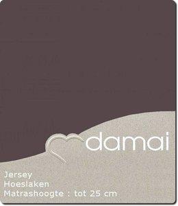 Damai Hoeslaken Double Jersey Walnut