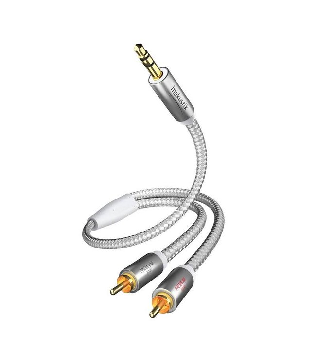 In-Akustik Premium MP3 kabel 3.5mm Mini Jack <> 2x RCA