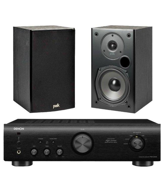 Denon PMA-520 + Polk Audio T15