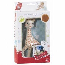Sophie de Giraf in wit-rode geschenkdoos