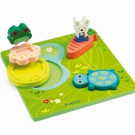 Djeco Djeco 1047 Relief puzzel - 1.2.3 Froggy