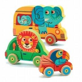 Djeco Djeco houten puzzel Patchy + co