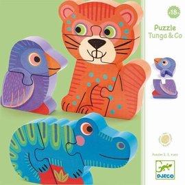 Djeco Djeco houten puzzel Tunga + co