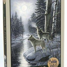 Cobble Hill Wolves by Moonlight (1000 stukjes)