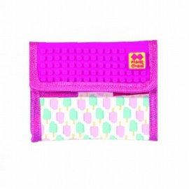 Pixie Crew portemonnee neon roze ijsje