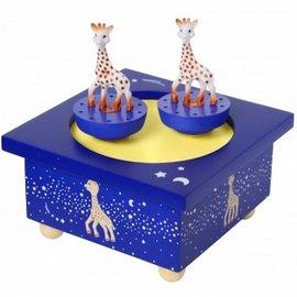 Sophie de Giraf houten muziekdoosje Milky Way