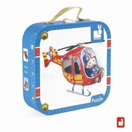 Janod Fleurus puzzelkoffer - Pierre's helicopter