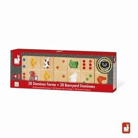 Janod Janod Spel - matching - domino boerderij hout