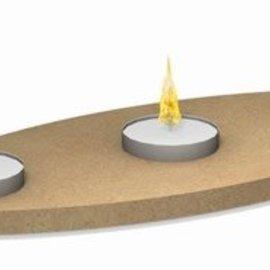 Ovale waxine plank