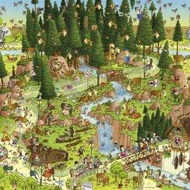 Heye Black Forest Habitat. Comic 1000 stukjes