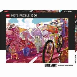Heye Heye Bike Art - Tour in pink 1000 stukjes