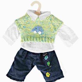 Heless Heless Jeans met trui en blouse voor poppen 28-33 cm