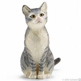 Schleich Schleich 13771 Kat zittend