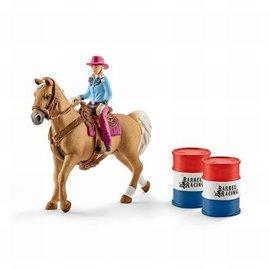 Schleich Schleich Barrel Racing met Cowgirl