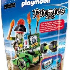 Playmobil Playmobil - Piratenkapitein met groen kanon (6162)