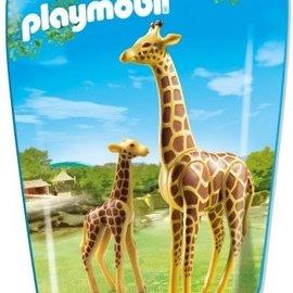 Playmobil Playmobil - Giraffe met jong (6640)