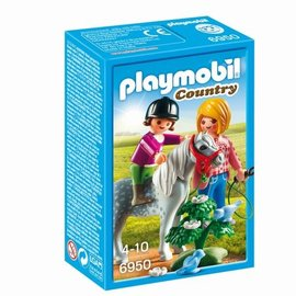 Playmobil Playmobil - Ponyrijden met mama (6950)